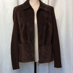 Live A Little 💯 percent leather coat brown